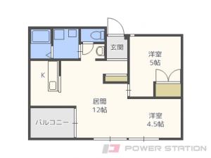 札幌市東区北7条東8丁目0賃貸アパート間取図面