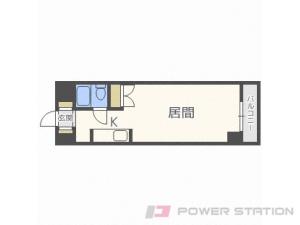 札幌1K分譲リースマンション図面