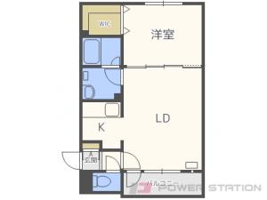 環状通東1LDKアパート図面