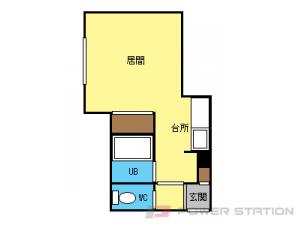 東区役所前1Kアパート図面