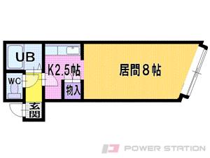 札幌市東区北9条東9丁目0賃貸アパート間取図面