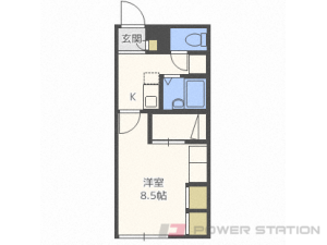 札幌市東区伏古13条3丁目0賃貸アパート間取図面