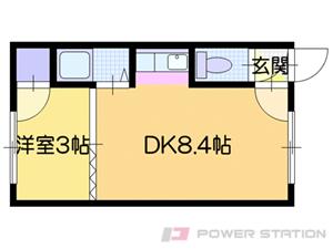 札幌市東区北10条東12丁目1賃貸アパート間取図面