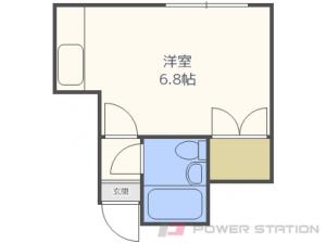 札幌市東区北8条東13丁目0賃貸アパート間取図面