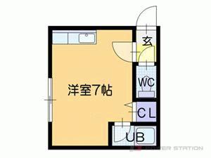札幌市東区北11条東10丁目0賃貸アパート間取図面
