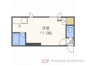 東区役所前1Rアパート図面