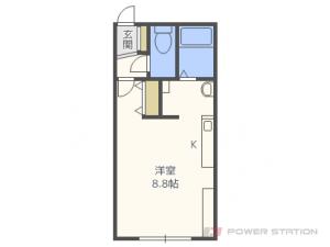 札幌市東区北14条東12丁目0賃貸アパート間取図面