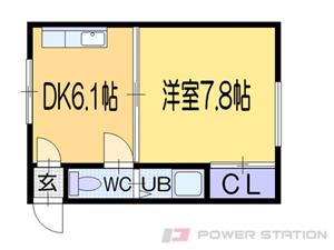 札幌市東区北13条東14丁目0賃貸マンション間取図面