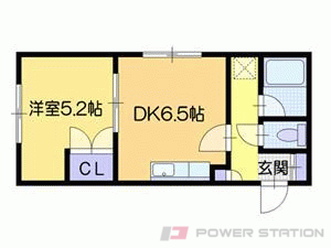 札幌市東区北11条東15丁目1賃貸マンション間取図面