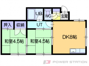 札幌市東区本町1条2丁目0賃貸アパート間取図面