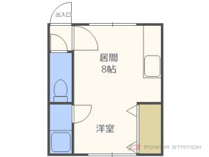 北18条1Rアパート図面