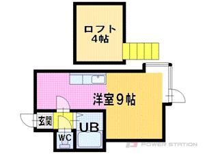 札幌市東区北19条東2丁目0賃貸アパート間取図面
