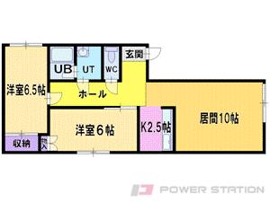 札幌市東区北16条東5丁目0賃貸マンション間取図面