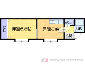 札幌市東区北17条東3丁目0賃貸マンション間取図面