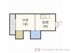 東区役所前1Kマンション図面