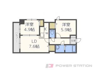 札幌市東区北15条東7丁目0賃貸マンション間取図面