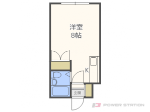 東区役所前1Rマンション図面