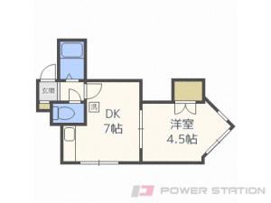 環状通東1DKマンション図面
