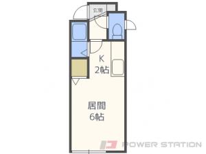環状通東1DKアパート図面