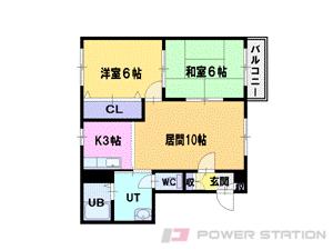 札幌市東区東苗穂3条2丁目0賃貸マンション間取図面