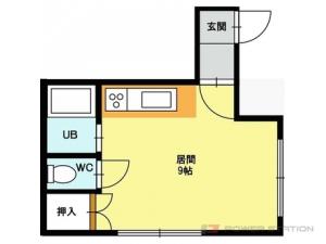札幌市東区北20条東1丁目0賃貸アパート間取図面