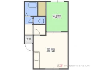 札幌市東区北22条東6丁目1賃貸アパート間取図面