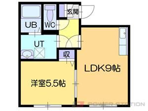 札幌市東区中沼西4条1丁目0賃貸アパート間取図面