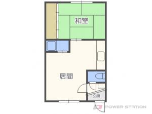 札幌市東区北20条東9丁目0賃貸アパート間取図面