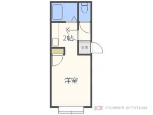 札幌市東区北19条東12丁目1賃貸アパート間取図面