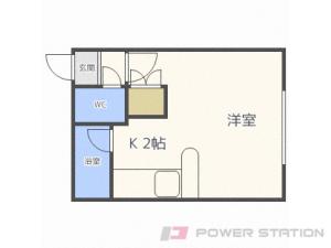 札幌市東区北20条東13丁目0賃貸アパート間取図面