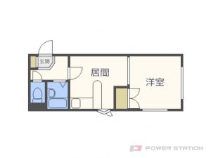 元町1DKマンション図面