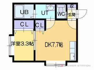 札幌市東区北34条東17丁目1賃貸アパート間取図面