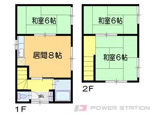 札幌市東区北43条東4丁目0一戸建貸家間取図面