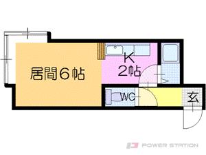 環状通東1Kアパート図面