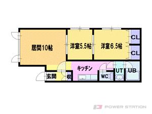 札幌市東区東苗穂3条1丁目0賃貸アパート間取図面
