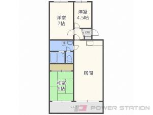 札幌市東区東苗穂3条1丁目1賃貸マンション間取図面
