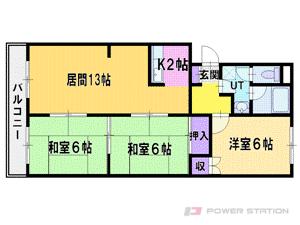 札幌市東区東苗穂5条3丁目0賃貸マンション間取図面