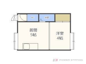 札幌市東区北23条東1丁目0賃貸アパート間取図面