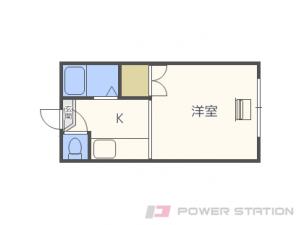 北24条1Kアパート図面