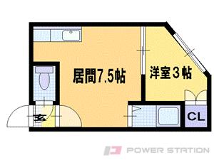 札幌市東区北24条東4丁目0賃貸アパート間取図面