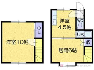 札幌市東区北22条東9丁目1賃貸アパート間取図面