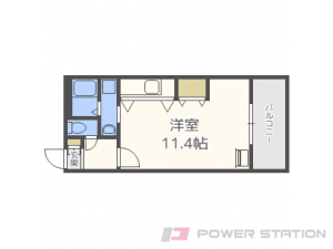 札幌市東区北21条東14丁目0賃貸マンション間取図面