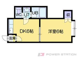 札幌市東区北21条東17丁目0賃貸アパート間取図面