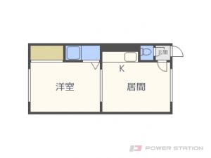 札幌市東区北21条東18丁目0賃貸マンション間取図面