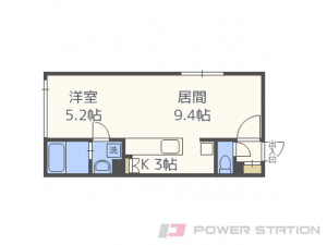 札幌市東区北9条東1丁目0賃貸マンション間取図面
