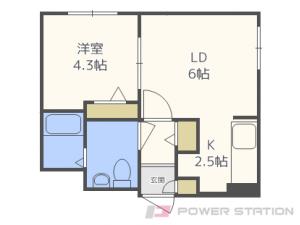 札幌市東区北13条東5丁目0賃貸マンション間取図面