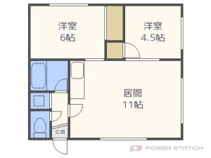 札幌市東区伏古9条5丁目0賃貸アパート間取図面
