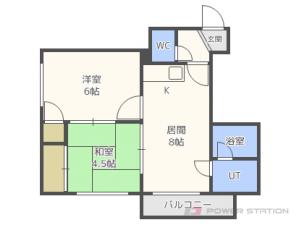 札幌市東区伏古10条4丁目1分譲リースマンション間取図面