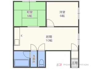 札幌市東区東苗穂5条2丁目0賃貸アパート間取図面