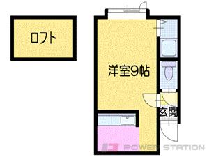 札幌市東区北31条東1丁目0賃貸アパート間取図面